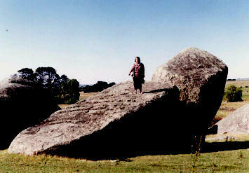 Heather Gilroy Standing on a Fallen Menhir